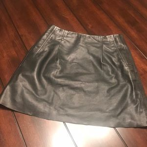 Worn Twice-Black French Connection Leather Skirt
